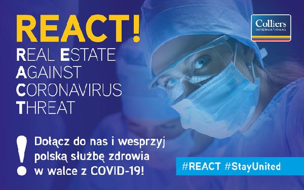 Colliers International rozpoczyna akcję REACT na rzecz walki z koronawirusem